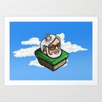 hayao miyazaki Art Prints featuring Hayao Miyazaki by mr adam cain