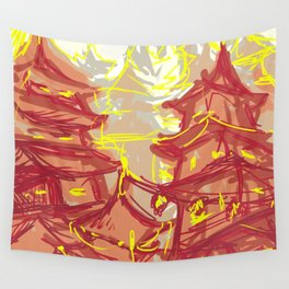 The city Wall Tapestry