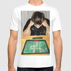 Puzzled Mens Fitted Tee White MEDIUM