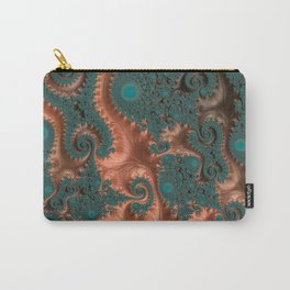 Copper Leaves - Fractal Art Carry-All Pouch