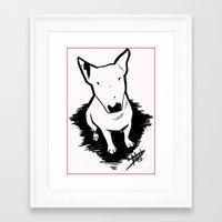 bull terrier Framed Art Prints featuring bull terrier by sabrina.gennari