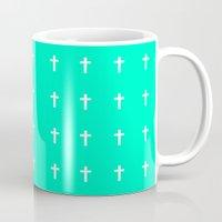 cross Mugs featuring Cross by HW Studio