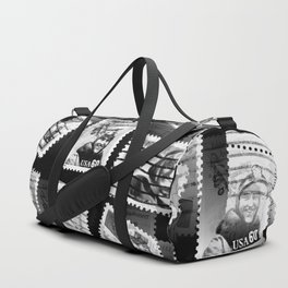 Nostalgic Stamps In Black And White #decor #society6 #homedecor Duffle Bag