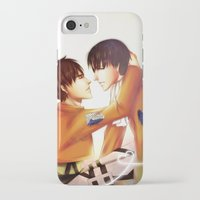 levi iPhone & iPod Cases featuring Levi x Eren by TEAM JUSTICE ink.
