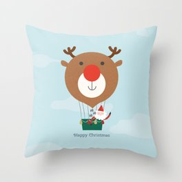 Day 13/25 Advent - Air Rudolph Throw Pillow