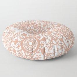 Rose Gold Mandala Pattern Floor Pillow