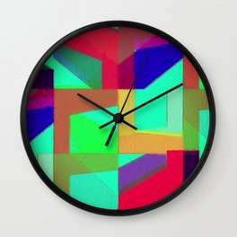 Colorful Truth. Green. Wall Clock