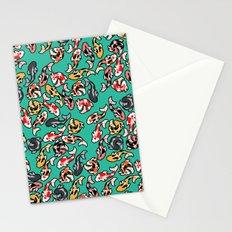 Aqua Koi Stationery Cards