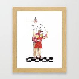 Love Test Framed Art Print