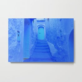 Blue Door of Chefchaouen, Morocco Metal Print