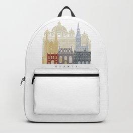 Gdansk skyline poster Backpack