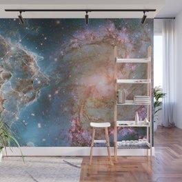 Eagle Nebula and Spiral Galaxy Deep Space Telescopic Photograph Wall Mural
