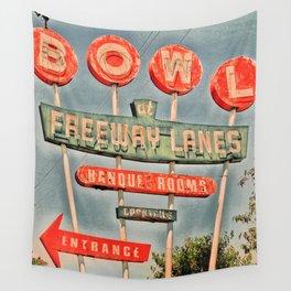 Freeway Lanes Bowl - Selma, CA Wall Tapestry