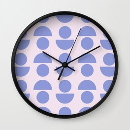 Shapes in Periwinkle Wall Clock