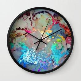 Spectrum Rainbow Alcohol Ink Wall Clock