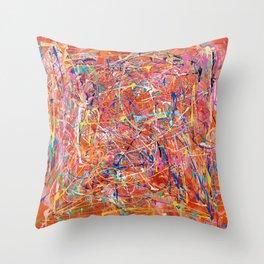 Orange Expression Throw Pillow