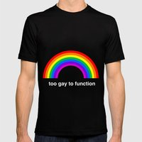 Too Gay To Function MEDIUM Mens Fitted Tee Black