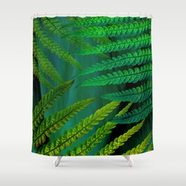 Forest Fern Green Shower Curtain