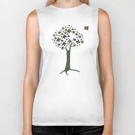 The Bird Tree Biker Tank