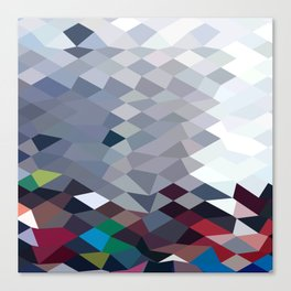 Tidal Wave Abstract Low Polygon Background Canvas Print