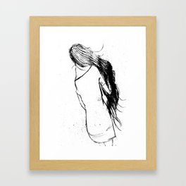 Girl Walking Framed Art Print