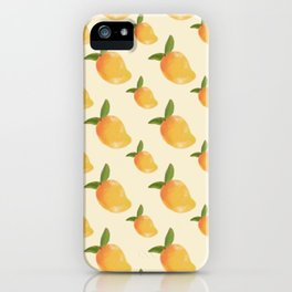 Nostalgic Yellow Mangoes iPhone Case