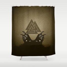 Vikings Odin's Ravens Huginn and Muninn Shower Curtain