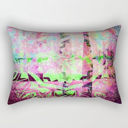 252 19 Green and Purple Abstract Tribal Rectangular Pillow