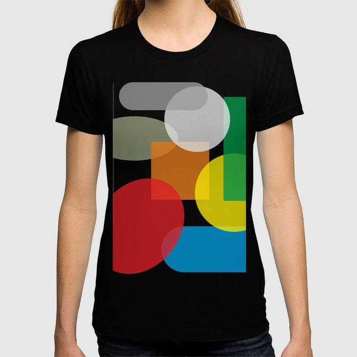 Tech geometric colorful Background #society6 #decor #buyart #artprint T-shirt