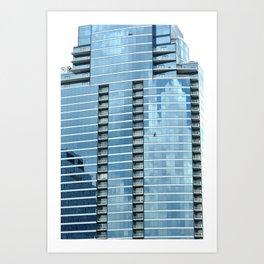 BLUE CHICAGO - CLEANING WINDOWS Art Print