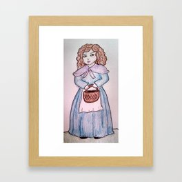 The Girl with the Basket Framed Art Print