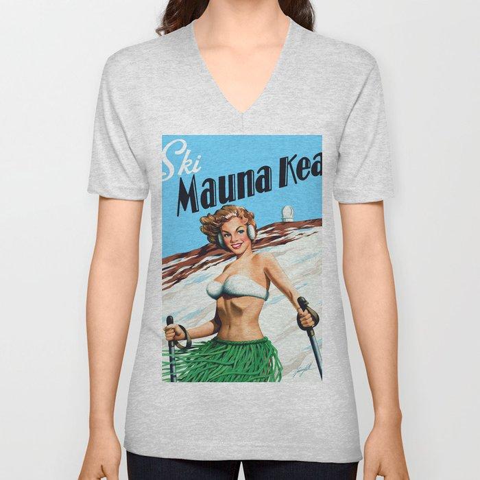 Ski Mauna Kea Unisex V-Neck