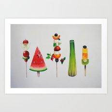 Healthy Sticks Art Print