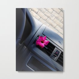 Car Flower Metal Print