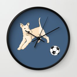 Terrier running Wall Clock