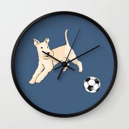 Terrier running Wall Clock