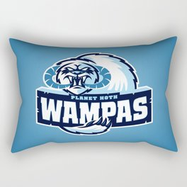 Planet Hoth Wampas - Blue Rectangular Pillow