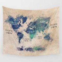 world map 138 #worldmap #map Wall Tapestry