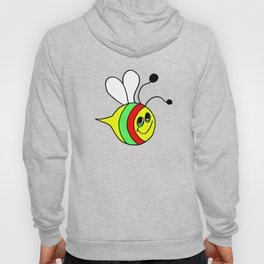 Drawn by hand a colorfull bee for children and adults Hoody