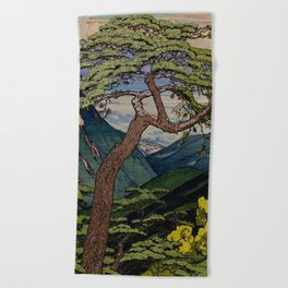 The Downwards Climbing Beach Towel