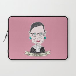 Ruth Bader Ginsburg The Notorious RBG Flaming Feminist Laptop Sleeve