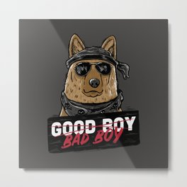 Good Boy Bad Boy Metal Print