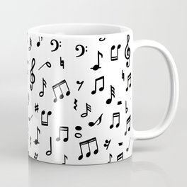Music notes in black and white Coffee Mug