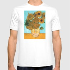 Vincent van Gogh - Still Life Vase with Twelve Sunflowers 2X-LARGE White Mens Fitted Tee
