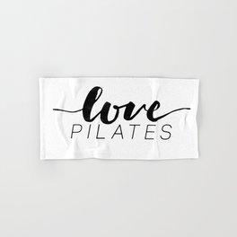 love pilates Hand & Bath Towel