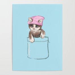 Little Cat in Pocket Poster