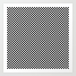 Simple checkerboard background Art Print