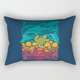 Aquatic Spectrum Rectangular Pillow