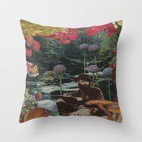 reading Throw Pillows featuring reading by Eleanor Boersma