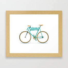 Miami Typo - Bike Framed Art Print